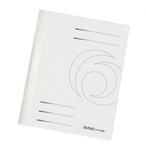 Herlitz 11092749 Schnellhefter A4 Karton gefaltet weiß intensiv 10er Packung