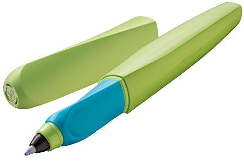 Pelikan 959791 Twist Tintenroller universell für Rechts- und Linkshänder, grün/blau