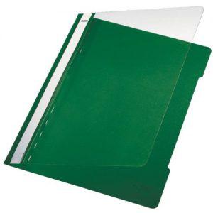 Esselte Leitz Hefter Standard, A4, langes Beschriftungsfeld, PVC, grün