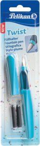 Pelikan 923441 Füllhalter Twist (Universel für Rechts- und Links händer) hellblau/dunkelblau