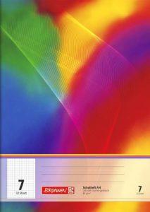 Schulheft / Schreibheft / Rechenheft (Din A4 / 32 Blatt) LINEATUREN FREI WÄHLBAR (Lineatur 7)