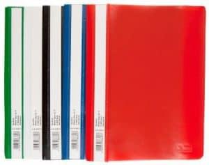 30 Schnellhefter DIN A5 / PP / 5 verschiedene Farben