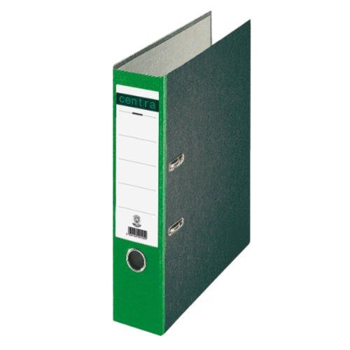 Centra 220124 Ordner Standard, mit Farbrücken, mit Schlitzen, A4, breit, grün