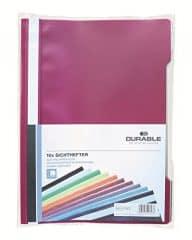 Durable 999107802 Sichthefter (A4 Beutel) 10 Stück, farbig sortiert