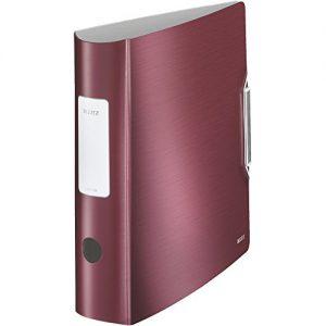 Leitz 11080028 Qualitäts-Ordner Active Style breit Qualitäts-Ordner Active Style, PP, A4, breit, granatrot