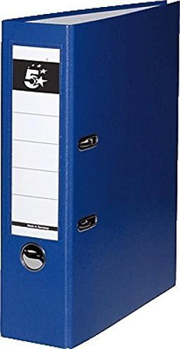 "10 Ordner Blau Kunststoff 8cm Aktenordner 80mm DIN A4 Büro von ""5 Star""."