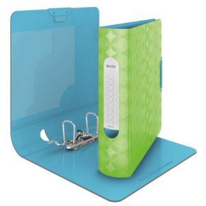 Leitz 11330050 Retro Chic Qualitäts-Ordner 180° (Polyproplyen, A4, breit) neon grün