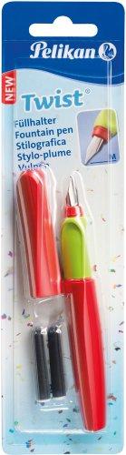 Pelikan 923581 Füllhalter Twist (Universel für Rechts- und Links händer) rot/grün