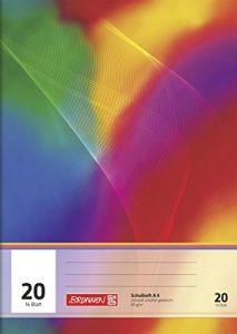Schulheft Aqua Pro Natura, blanko, mit Linienblatt, Lineatur 20, 16 Blatt, A4