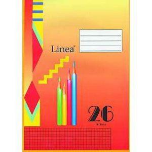 Schulheft LINEA DIN A4, kariert mit Rand, 16 Blatt, Lin