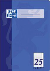Oxford 100050311 Schule Schulheft, A4, Lineatur 25 - liniert , Rand, 16 Blatt, 15er Pack