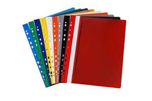 20 Schnellhefter DIN A4 / aus PVC - besonders stabil / gelocht - Eurolochung / 9 verschiedene Farben