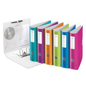 Esselte-Leitz 11060099 Active WOW Qualitäts-Ordner 180° (A4, Polyfoam, Breit) 10er-Pack sortiert