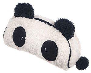 niceeshop(TM) Süß Weich Plüsch Panda Federmäppchen Stiftemappe Griffelmappe,Weiß