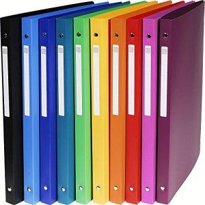 Exacompta 51299E Ringbuch (PP 500µ, 4 Ringe, Rücken 20mm, blickdicht, DIN A4) zufällige Farbe