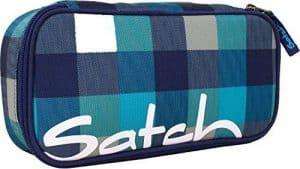 Satch Schlamperbox Blister 932 karo blau-türkis
